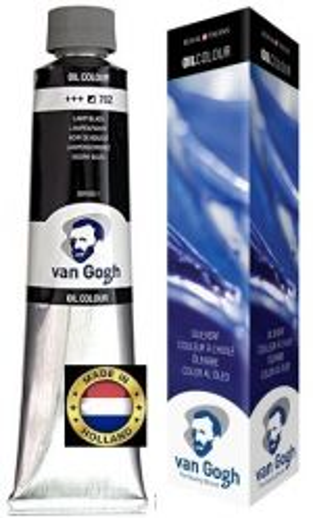 VAN GOGH OIL - Маслена боя 200 мл. - LAMP BLACK / 702
