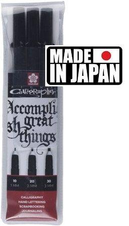 PIGMA CALLIGRAPHY SET Japan - Профи комплект за калиграфия BLACK