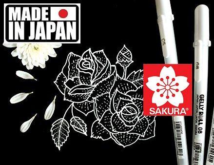 GELLY ROLL SAKURA JAPAN - Гел ролер  / 08 WHITE
