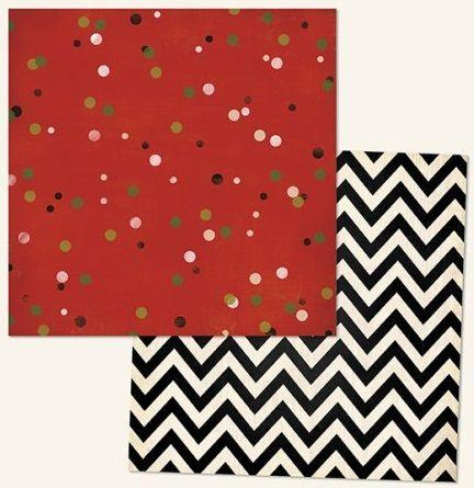 MME USA # christmas cofetti 12 X 12  - Дизайнерски скрапбукинг картон 30,5 х 30,5 см.