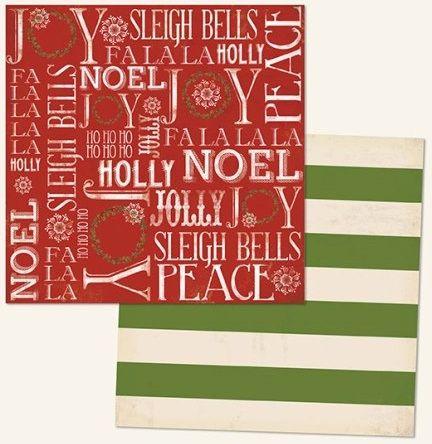 MME USA # christmas NOEL 12 X 12  - Дизайнерски скрапбукинг картон 30,5 х 30,5 см.