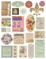 CLASSIC CARDSTOCK STICKERS  - ДЕКО СТИКЕРИ AIR MAIL