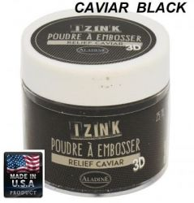 ALDINE EMBOSSING POWDER , USA - Фина ембосинг пудра 25ml CAVIAR BLACK