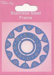 CRAFTS HOBBY - Метален ембос шаблон 60 x 60 mm,