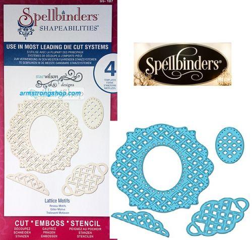 Spellbinders USA - К-кт шаблони за изрязване и ембос S5-107