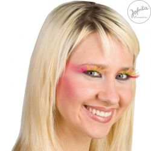 Jofrika - Germany Комплект Дълги Мигли с лепило - Розово и Жълто