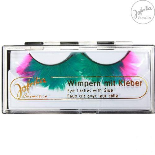 Jofrika - Germany Комплект Дълги Мигли с лепило - Зелено и Розово