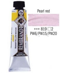 REMBRANDT ARTIST ACRYLIC 40ml -  ПРОФЕСИОНАЛНИ АКРИЛНИ БОИ #  PEARL RED
