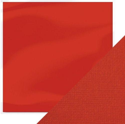 "CRAFT PERFECT CARD  12X12"" 216g - СТРУКТУРЕН картон 30,5 х 30,5 см  CHILLY RED"