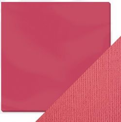 "CRAFT PERFECT CARD  12X12"" 216g - СТРУКТУРЕН картон 30,5 х 30,5 см  RASPBERRY PINK"
