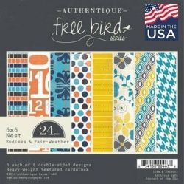 "AUTHENTIQUE USA # Endless & Fair - Дизайнерски блок 6""х6"" / 24 листа"