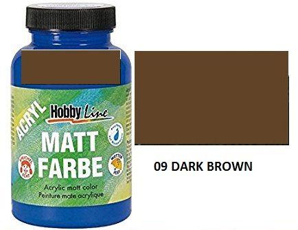 ACRYLIC MATT FARBE  275ML - Фин акрил и за маникюр DARK BROWN