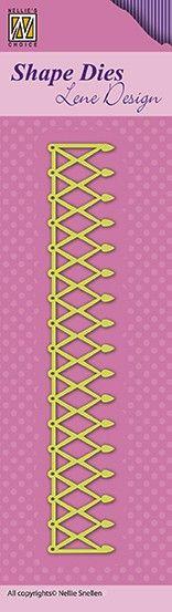 Lene Design DIES 130x21mm - Фигурална щанца за рязане и релеф, SDL043