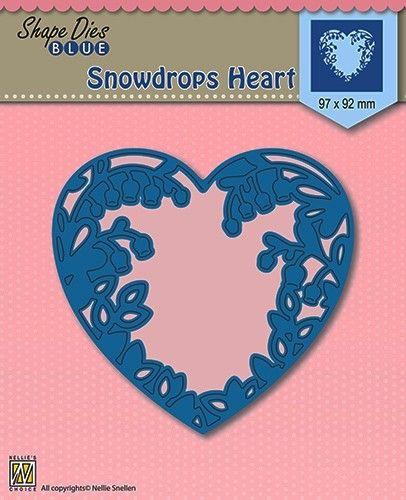 HEART SHAPE DIES 97x92mm - Фигурална щанца за рязане и релеф SDB008
