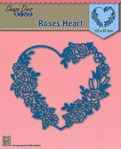 HEART SHAPE DIES  - Фигурална щанца за рязане и релеф SDB006