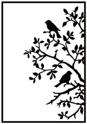 "Embossing Folders""birds on branch"" 106x150mm    - Папка за релеф / hsf017"