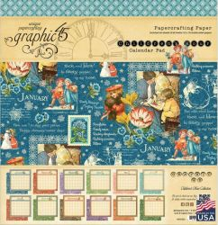 Graphic45,USA  CHILDREN CALENDAR 12x12 - Дизайн блок-календар  30,5x30.5