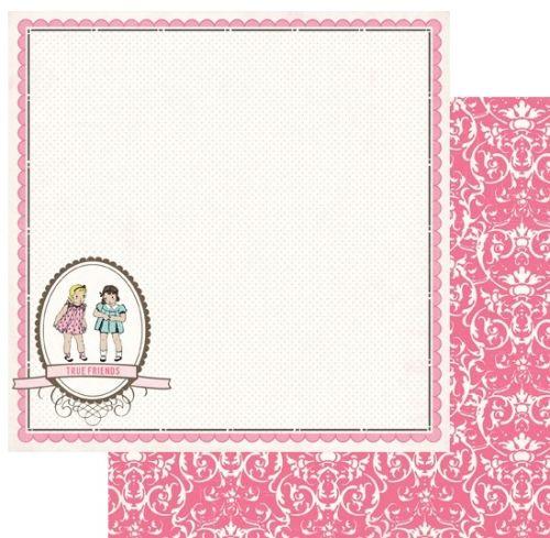 CARTA BELLA USA # TRUE FRENDS - Дизайнерски картон  30,5 Х 30,5 см.