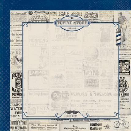 AUTHETIQUE SUAVE DAPPER - Дизайнерски картон  30,5 Х 30,5 см.