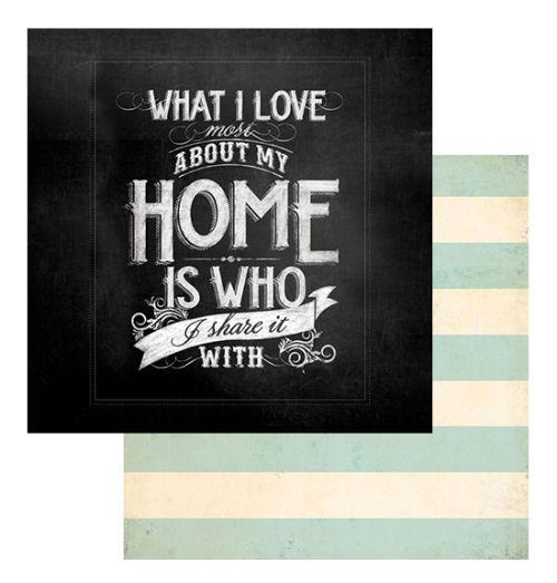 MME USA # HOME PAPER 12 X 12  - Дизайнерски скрапбукинг картон 30,5 х 30,5 см.