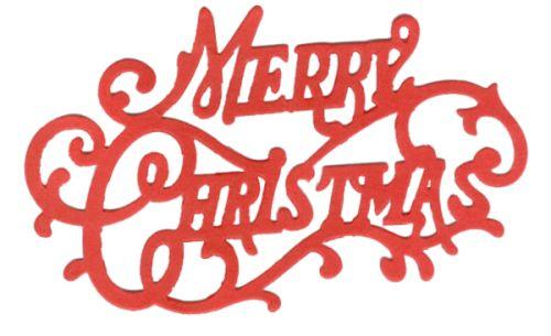 CRAFTS TOO  DIE - Дизайн щанца за рязане 10.8 x 7cm  MERRY CHRISTMAS