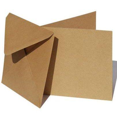 """KRAFT cards & envelopes 5"""" X 7"""" - 50 КРАФТ картички и пликове 12.5 Х 17.5"""