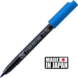 FUDEBIYORI BRUSH PEN * JAPAN - маркер четка PERSIAN BLUE