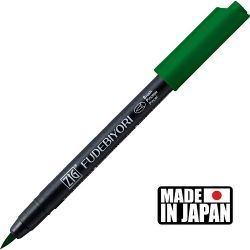 FUDEBIYORI BRUSH PEN * JAPAN - маркер четка GREEN