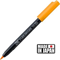 FUDEBIYORI BRUSH PEN * JAPAN - маркер четка BRIGHT YELLOW