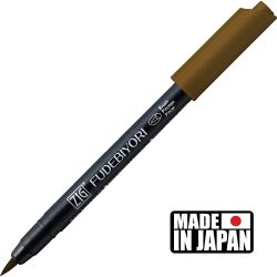 FUDEBIYORI BRUSH PEN * JAPAN - маркер четка BROWN