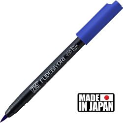 FUDEBIYORI BRUSH PEN * JAPAN - маркер четка BLUE