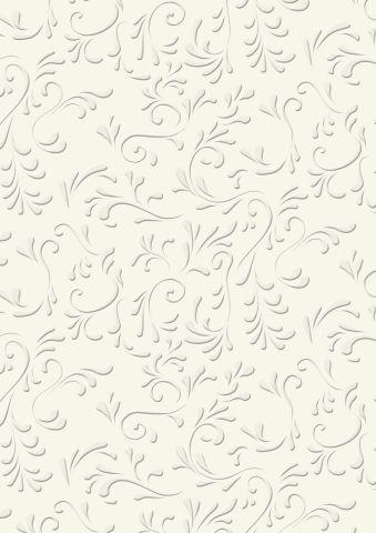 EMBOSSED SCARPBOOKING CARD 220 гр. - 50х70  ROMA Ivory White