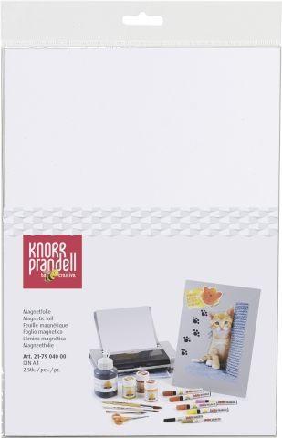 MAGNET FOIL white 2pcs A4 - Магнитни листи А4  за принтер и оцветяване