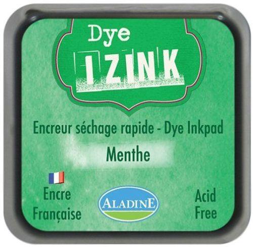 IZINK DYE MIDI PAD   - Тампон с ярък отпечатък GREEN MENTHE