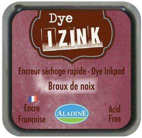 IZINK DYE MIDI PAD   - Тампон с ярък отпечатък BROWN NOIX