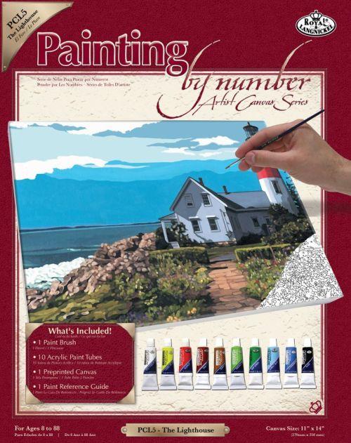 PAINTING by NUMBERS , USA - Рисуване по номера на платно 350  x 280mm * PCL5