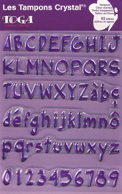 ALPHABET by TOGA STAMPS ,  - Дизайнерски печати 14X18 * GRAND  ALPHABET