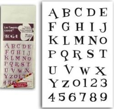 ALPHABET by TOGA STAMPS ,  - Дизайнерски печати 6X9 * ALPHABET