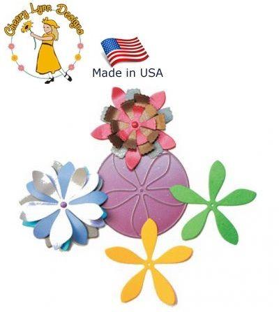 Cheery Lynn ,USA - Шаблон за рязане и ембос Цветя-sf3