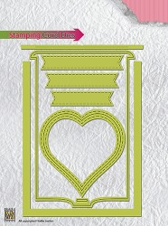 "CARD Stamping card dies ""heart"""