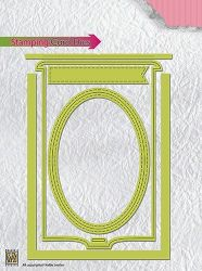 """CARD Stamping card dies """"OVAL"""""""