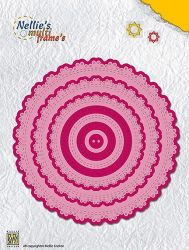 FORMS Dies round doily-2 (123x123mm)  - Щанци за рязане и релеф / MFD107