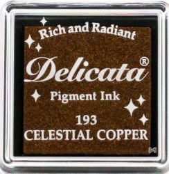 "DELICATA Metallic ""CELESTIAL COPPER"" - Тампон с мастило ""течна мед"""