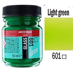 Decorfin Glass, TALENS - Витражна боя от най-високо качество, 50 мл. - Светло зелено