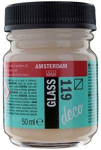 Decorfin Glass, TALENS - Витражна боя от най-високо качество, 50 мл. - Прозрачно Бяло