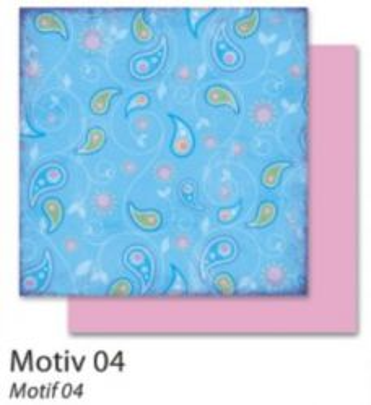 FB Flowers 04 - Дизайнерски картон с ембос-глитер елементи - 30,5 Х 30,5 см.