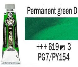 REMBRANDT Екстра Фини Маслени Бои 40 мл. - Permanent Green Deep 3, № 619