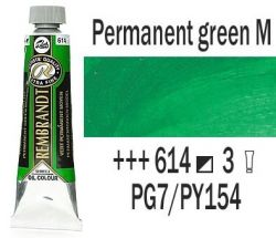 REMBRANDT Екстра Фини Маслени Бои 40 мл. - Permanent Green M 3, № 614