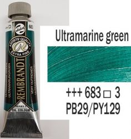REMBRANDT Екстра Фини Маслени Бои 40 мл. - Ultramarine green 3, № 683