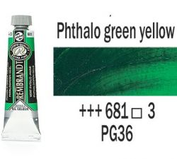 REMBRANDT Екстра Фини Маслени Бои 40 мл. - Phthalo Green Yellow 3, № 681